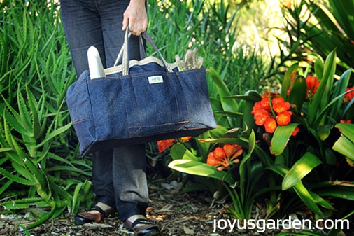 LadyBug Bag,  garden tool bag for women.