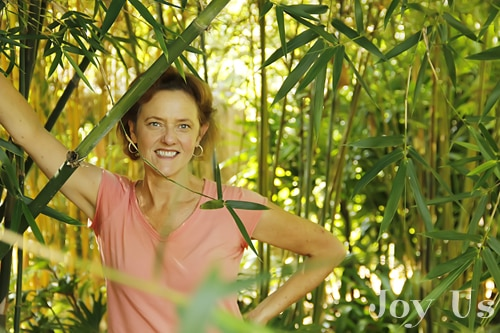 Nell in the bamboo garden