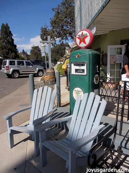 old gas pump becomes a focal point