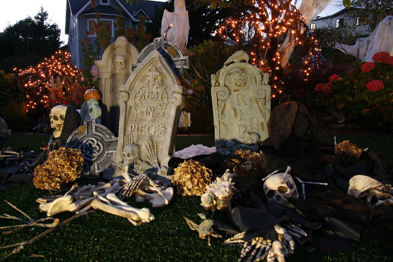 The graveyard looks wonderful, but is a lot of work