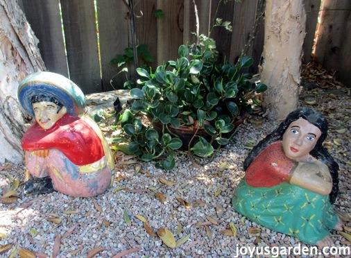 Mexican garden figures