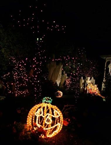 Light up pumpkin for Halloween