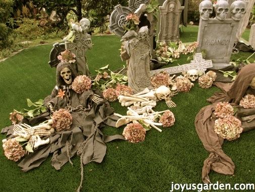 Halloween graveyard in the garden