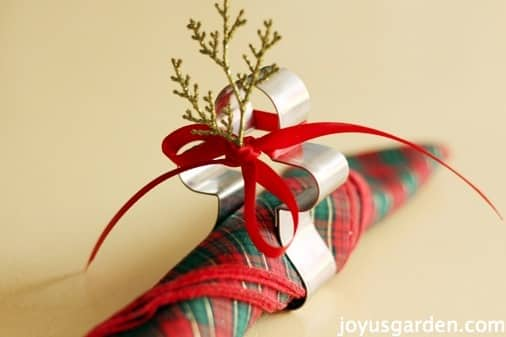 Two Christmas Napkin Ring Ideas