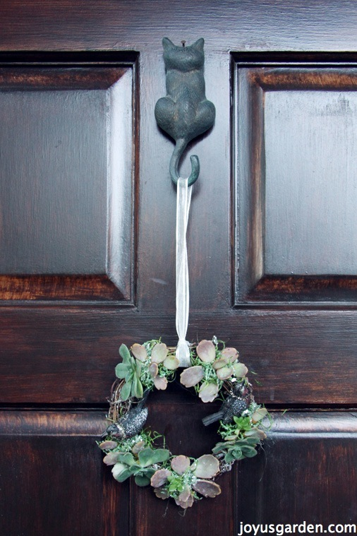 An Easy To Create Succulent Vine Wreath