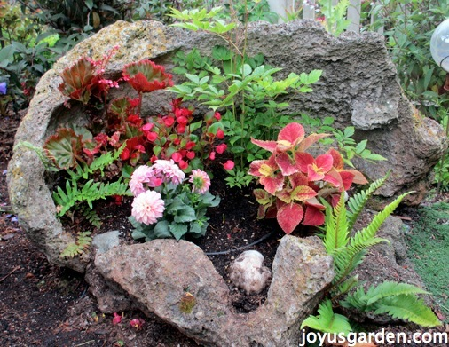 A Planter for The Garden Created From Rock
