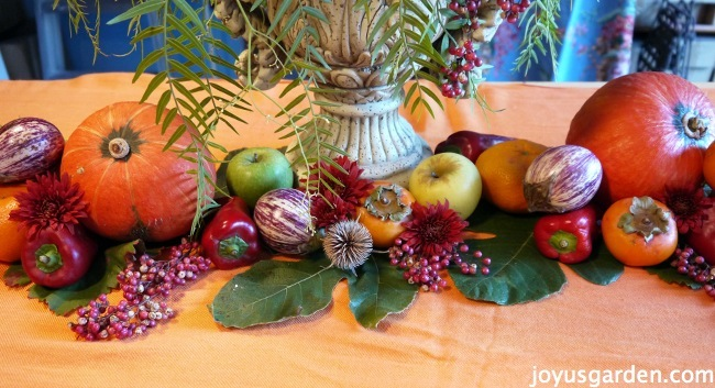 A Fall California-Style Centerpiece