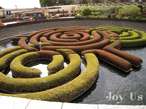 Garden maze at The Getty Center