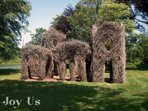 Outdoor sculptures at Florence Griswold Museum
