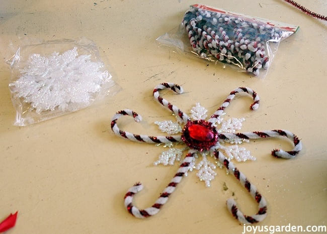 A Candy Cane Snowflake Ornament That's Oh So Festive & Easy To Make