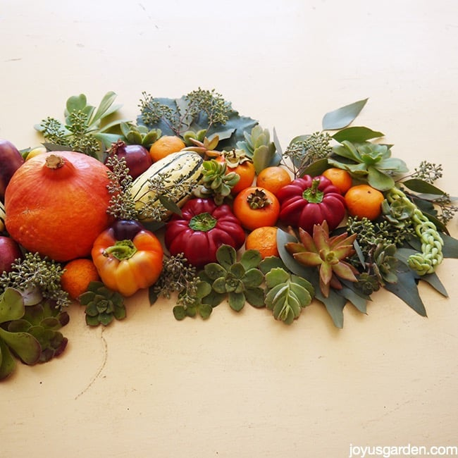 Various harvested foods