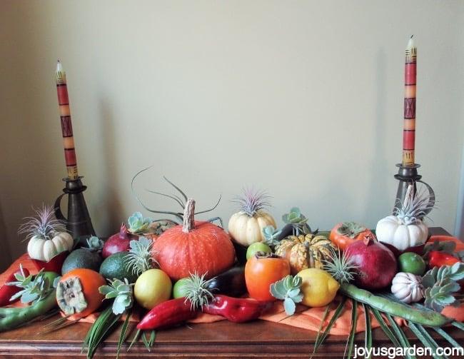 Festive fall centerpieces