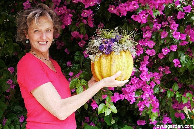 Nell with a pumpkin