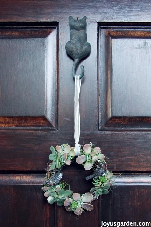 Succulent vine wreath