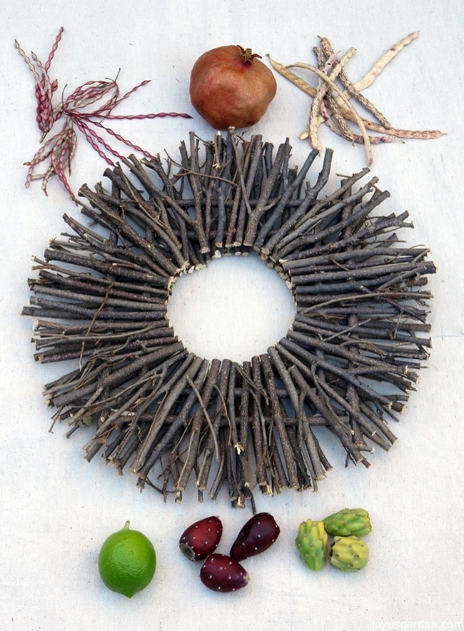 Desert style fall wreath materials