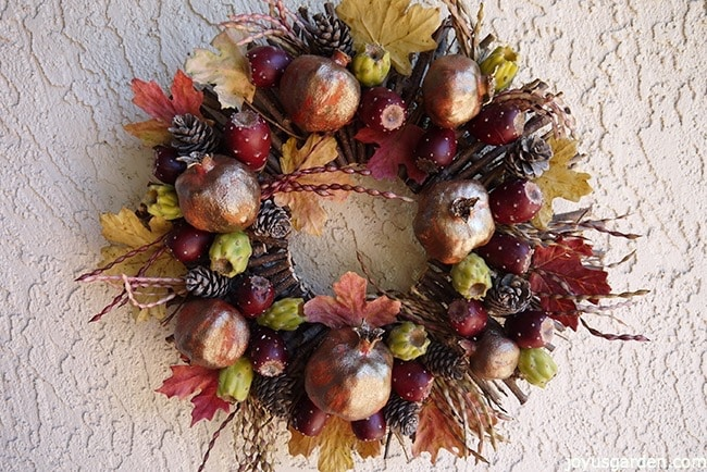 fall wreath desert style