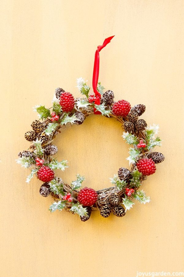 a holly berry vine wreath christmas ornament - How To Decorate Pine Cones For Christmas Ornaments