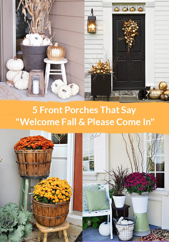 5 Front Porches That'll Welcome Fall to Your Home