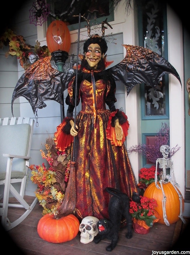 Festive Halloween witch