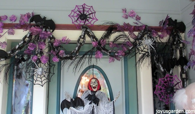 Changing up decorations at the front door