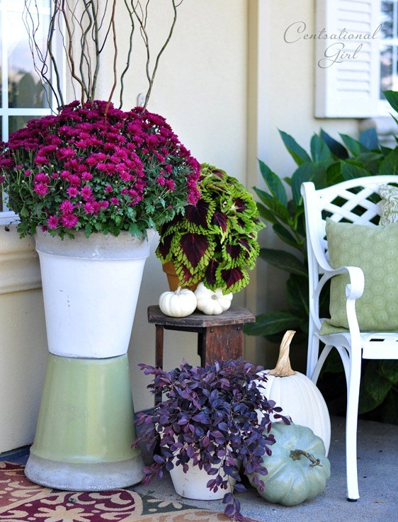 Fall porch scene