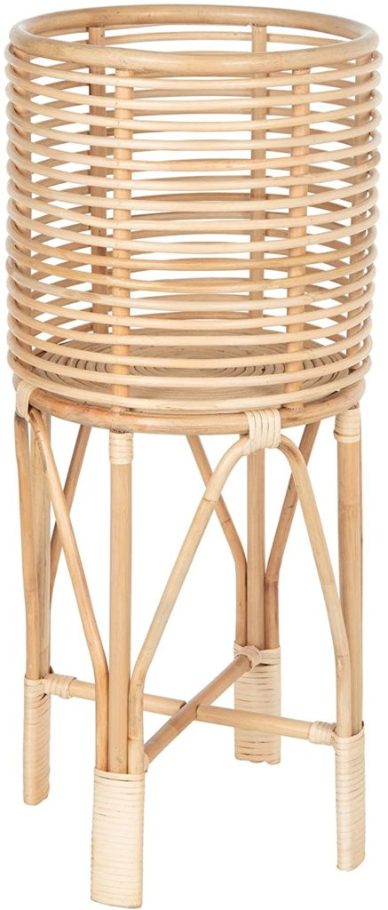 plant stand made from light rattan