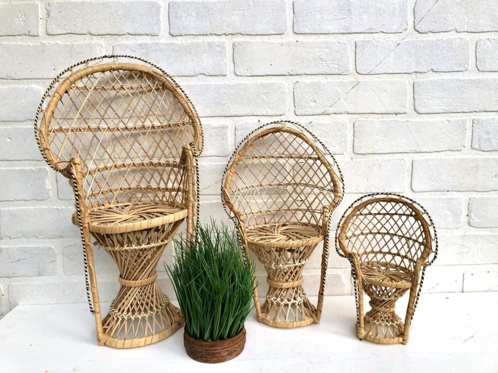 mini peacock chair plant stands