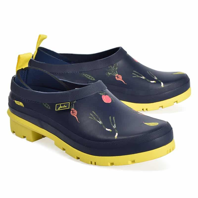 pop on printed rubber clogs
