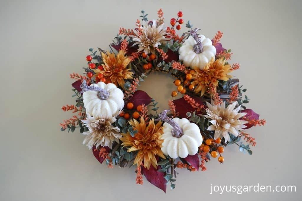 complete diy fall wreath