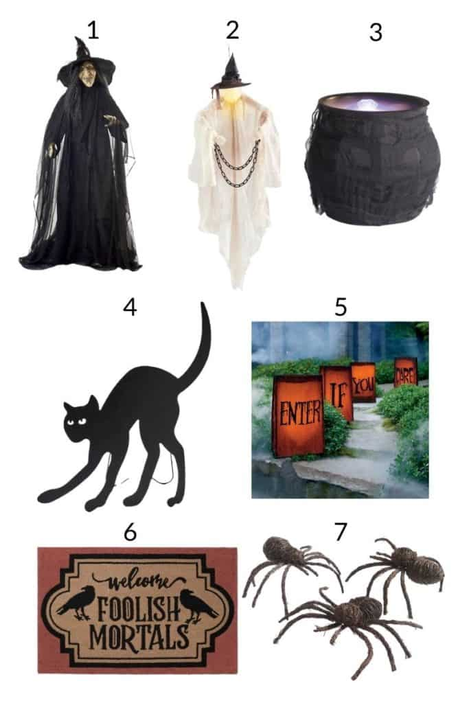 a collage of halloween decorations to buy online